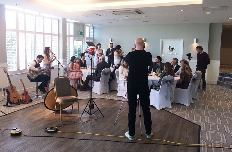 Wedding video shoot at the Harbour Hotel